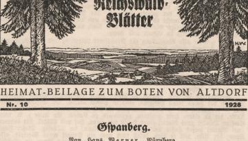 aus den Jahre 1928 - Das Dörfchen Gspannberg ...